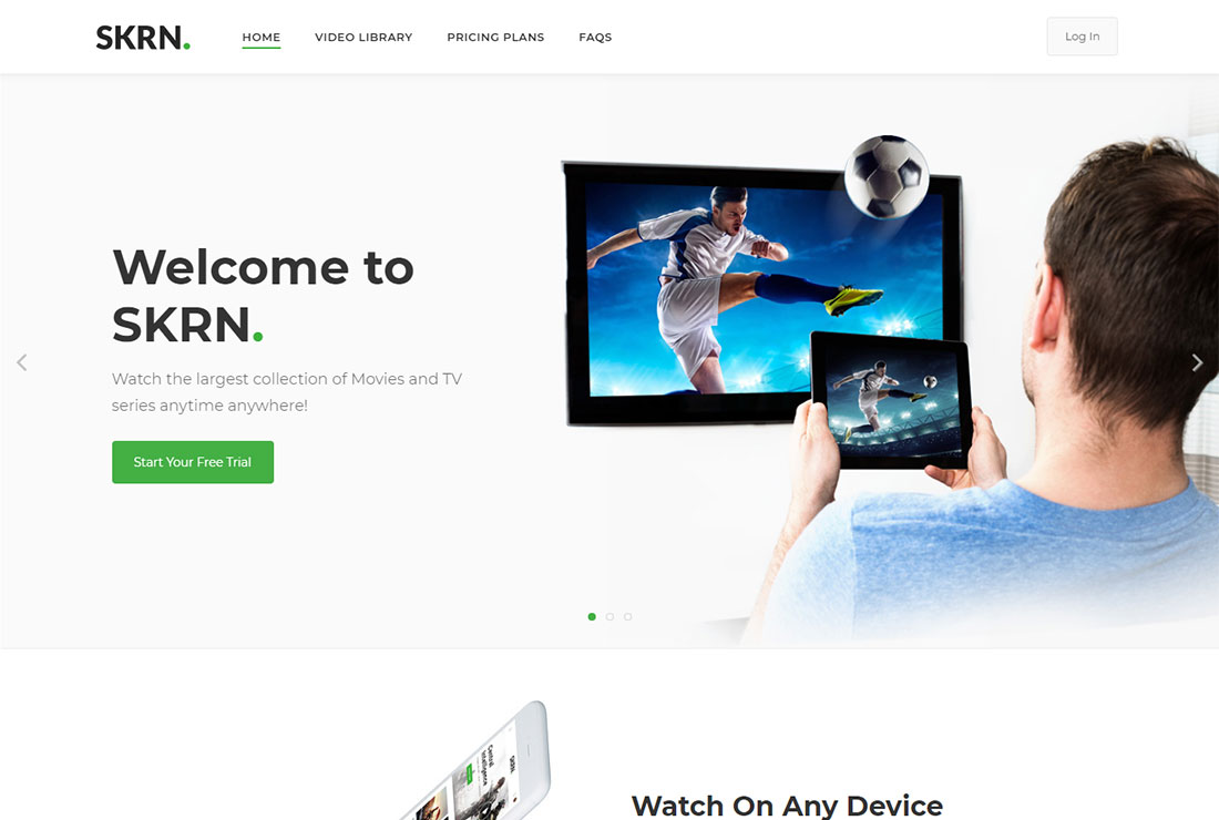 SKRN WordPress Live Streaming Theme