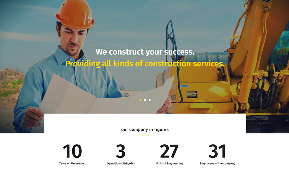 Buildom - Construction Jet Elementor Template
