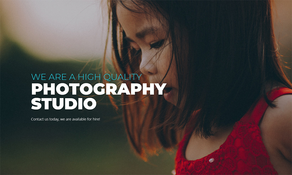 Imagenique - Photo Studio Jet Elementor Template
