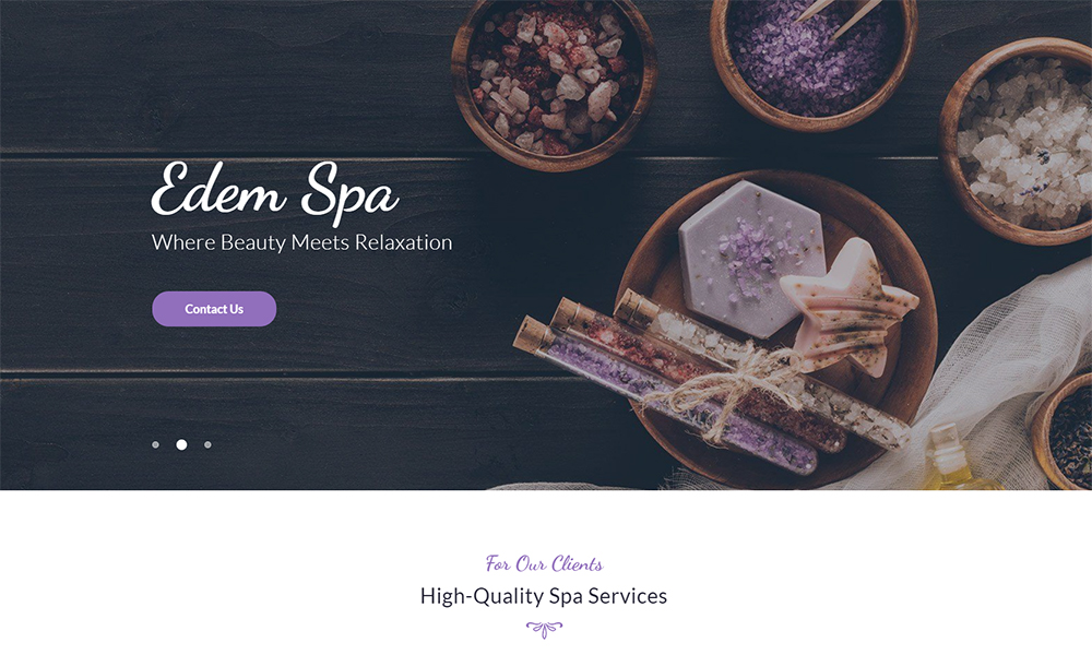 Aromico - Spa Salon Jet Elementor Template