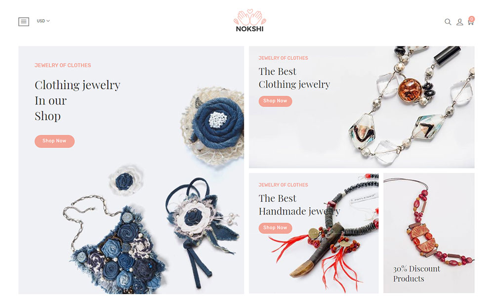Nokshi - Handmade & Craft eCommerce Shopify Theme