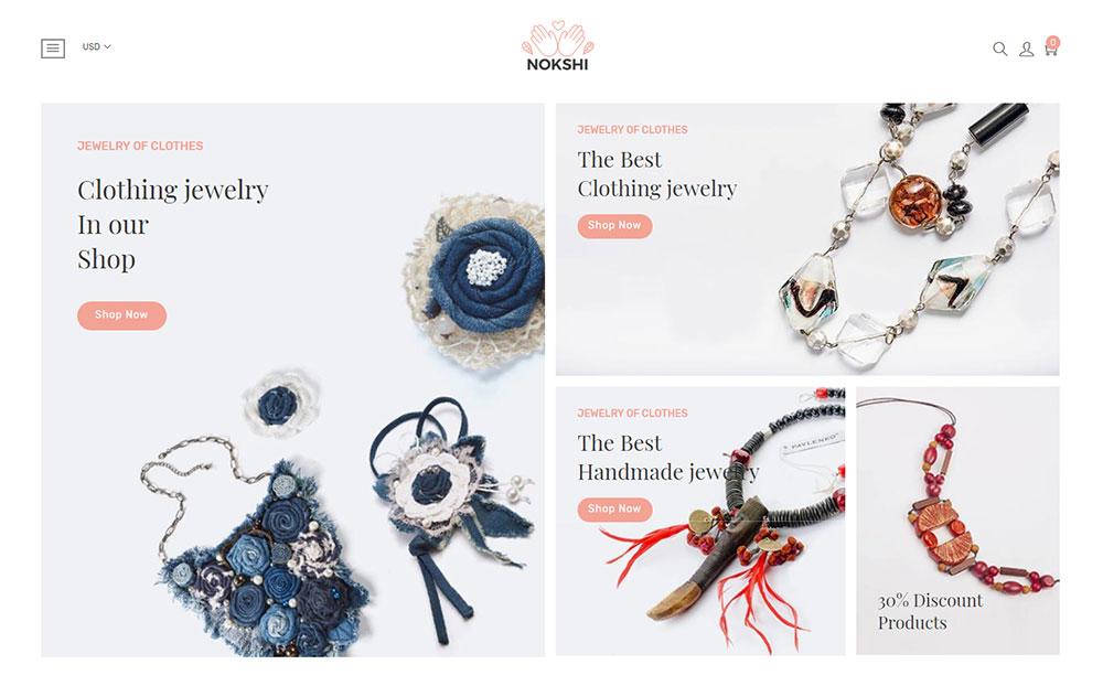 Nokshi - Handmade & Craft eCommerce Shopify Theme