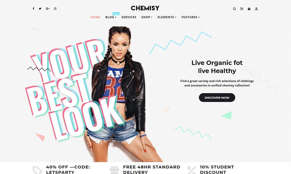 Chemisy - Clothes Elementor WooCommerce Theme target=