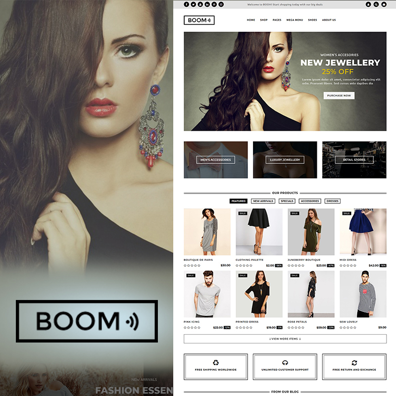 BOOM - Fashion & Accessories WooCommerce Theme