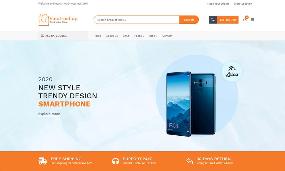 Electroshop - Electronics Store WooCommerce Theme