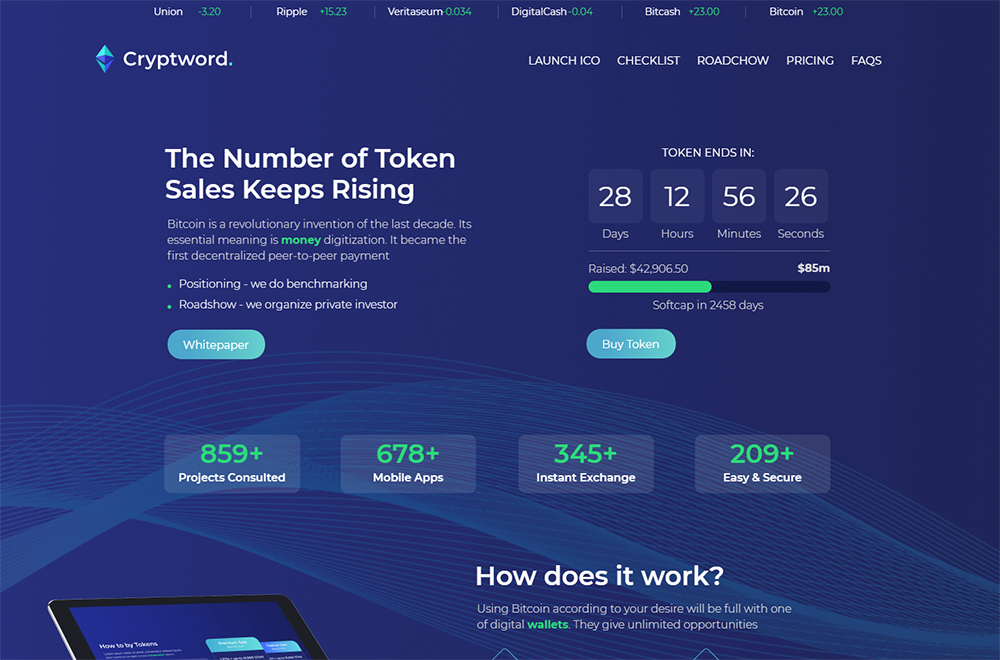 Cryptword - Cryptocurrency Elementor WordPress Theme