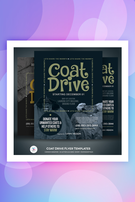 Coat Drive Flyer Corporate Identity Template