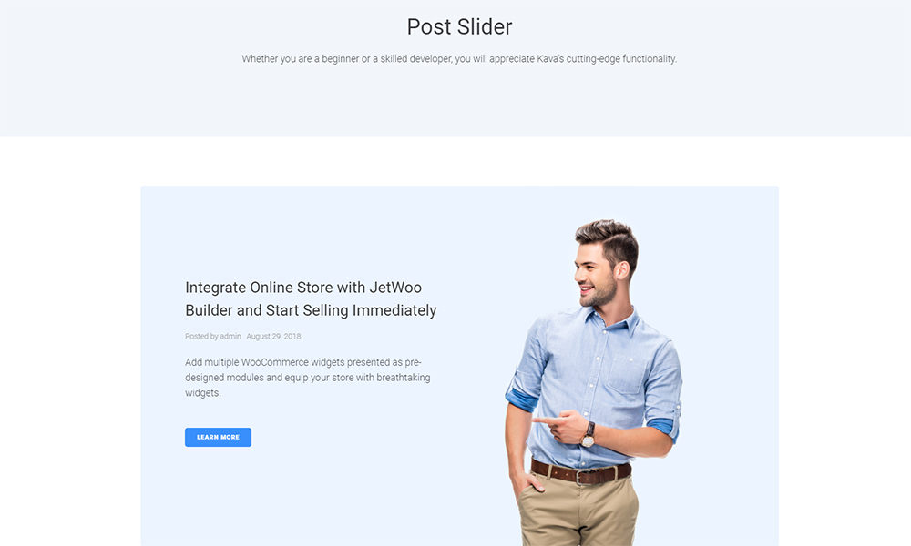 Convetus - Post Slider Jet Sections Elementor Template