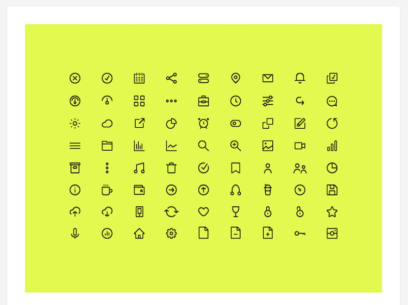 72 Icons Free Download