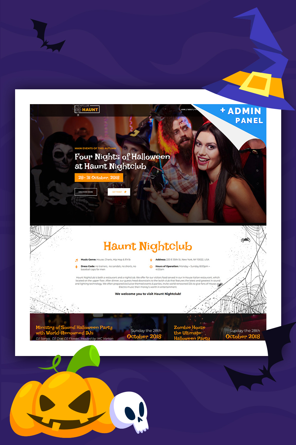 Halloween Landing Page Template