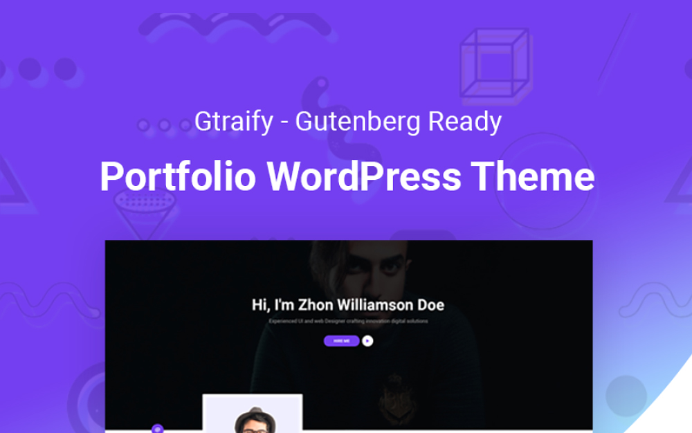 Gratify - Gutenberg Ready Portfolio WordPress Theme
