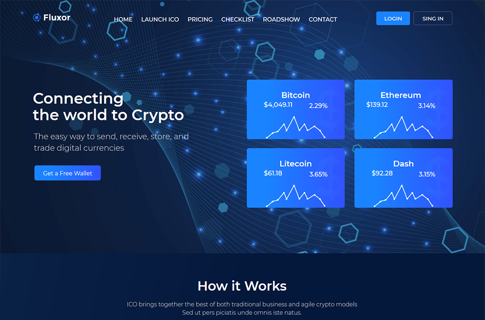 Fluxor - Crypcocurrency Investment Elementor WordPress Theme