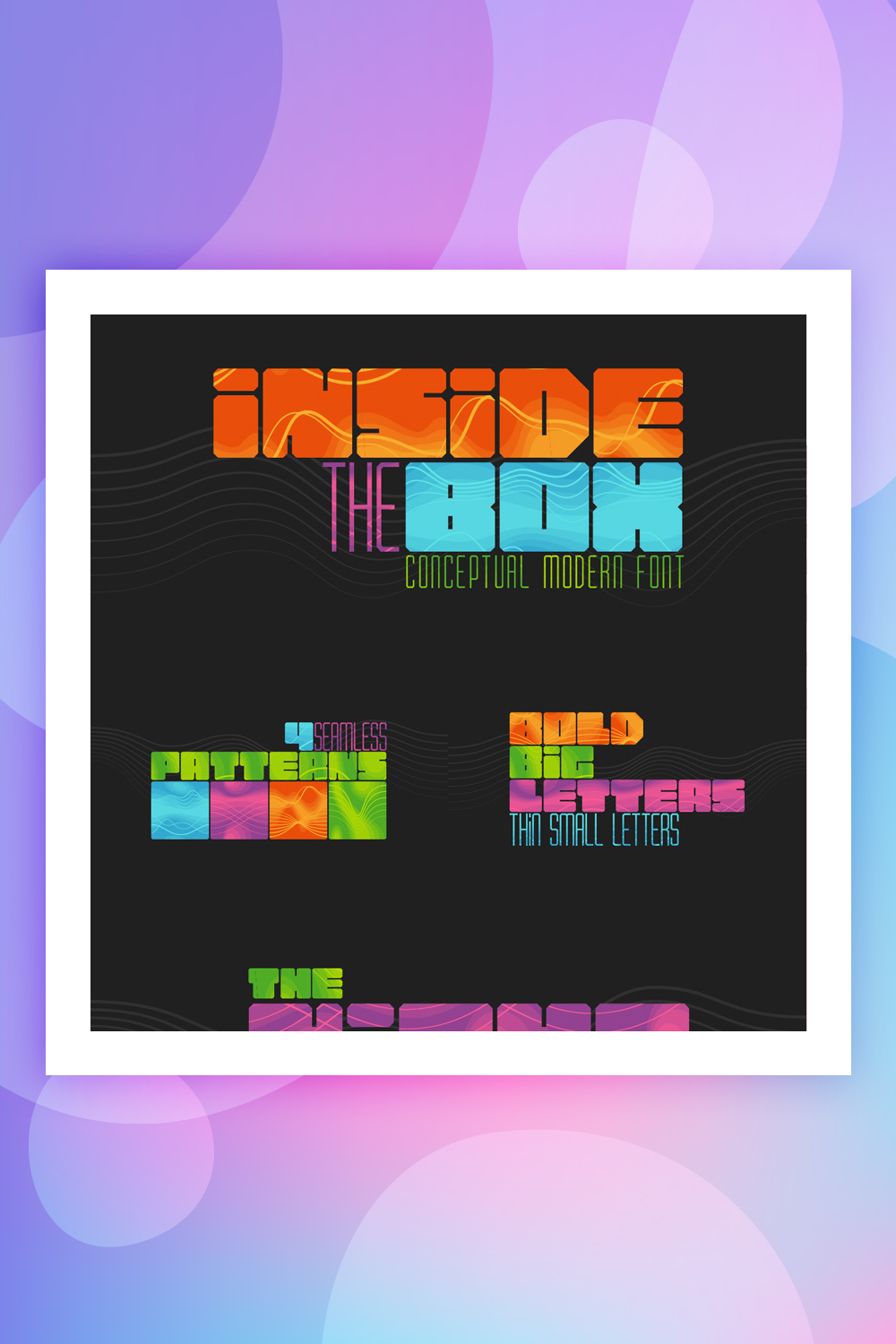 Inside the BOX Font & Patterns Font