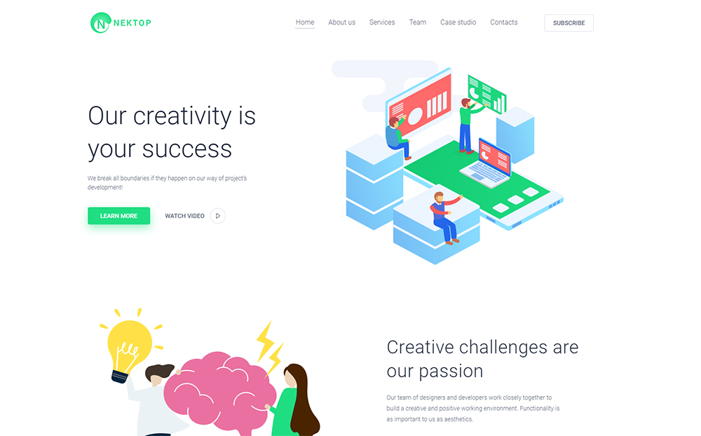 Nektop - Design Studio Multipurpose Creative Elementor WordPress Theme