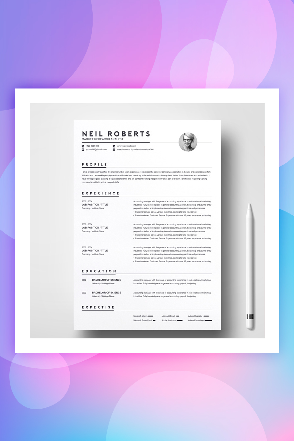 Neil Roberts Resume Template