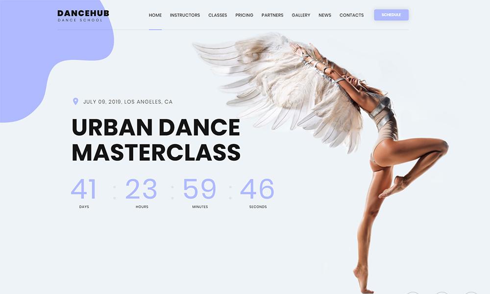 Dancehub Landing Page HTML Template