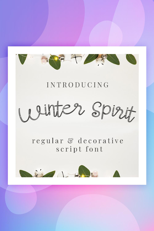 Winter Spirit Font