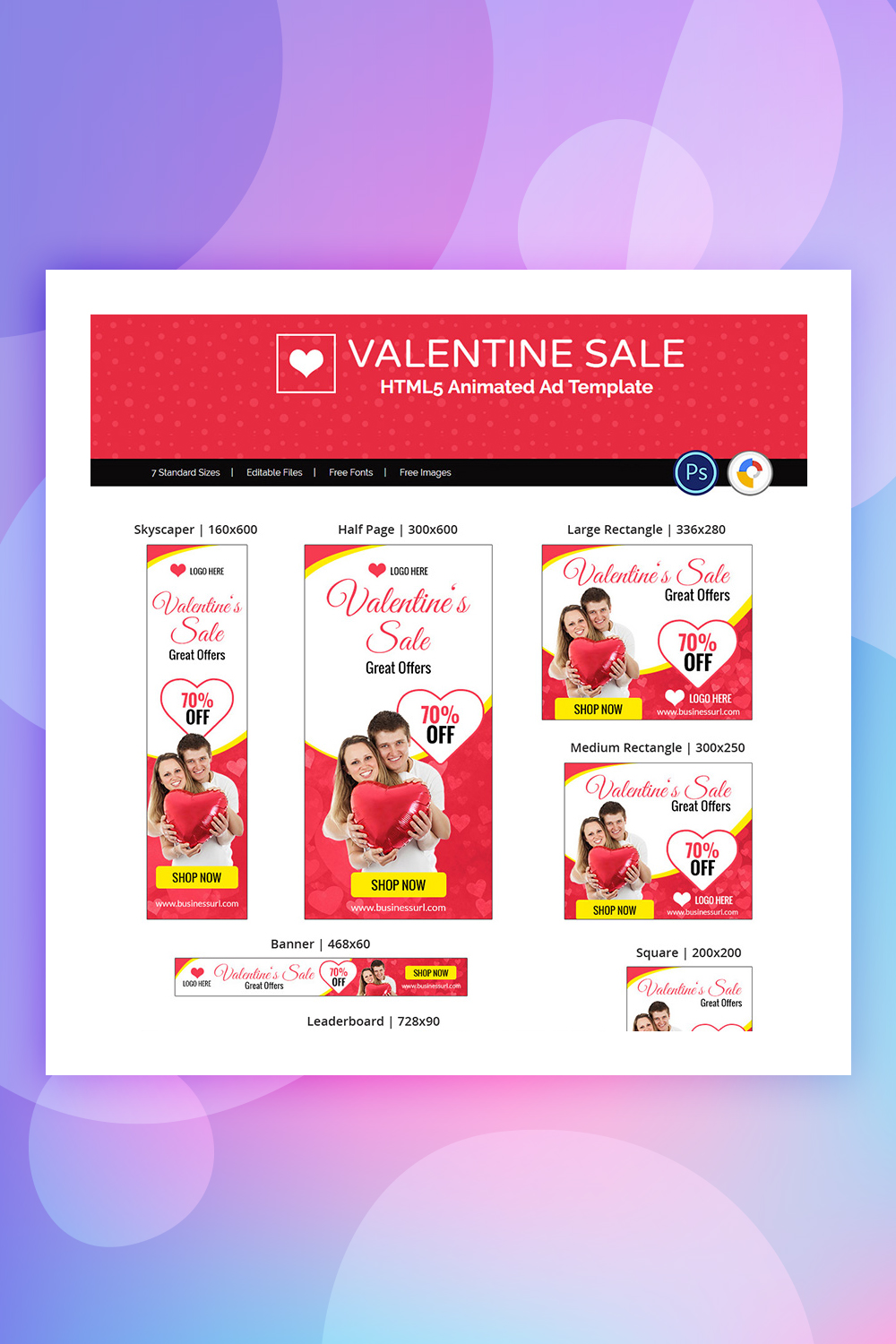 Valentine Sale Shopping Animated Banner