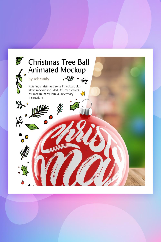 Christmas Tree Ball Animated Product Mockup