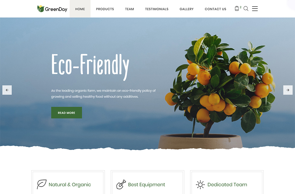 Green Day Landing Page HTML Template