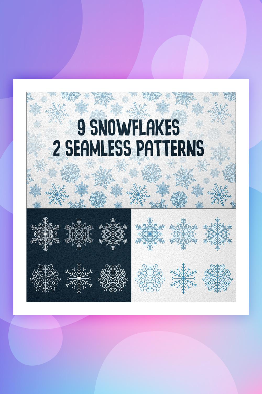 9 Snowflakes Illustration