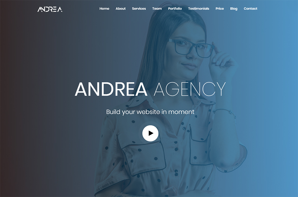 Andrea Agency Landing Page Template