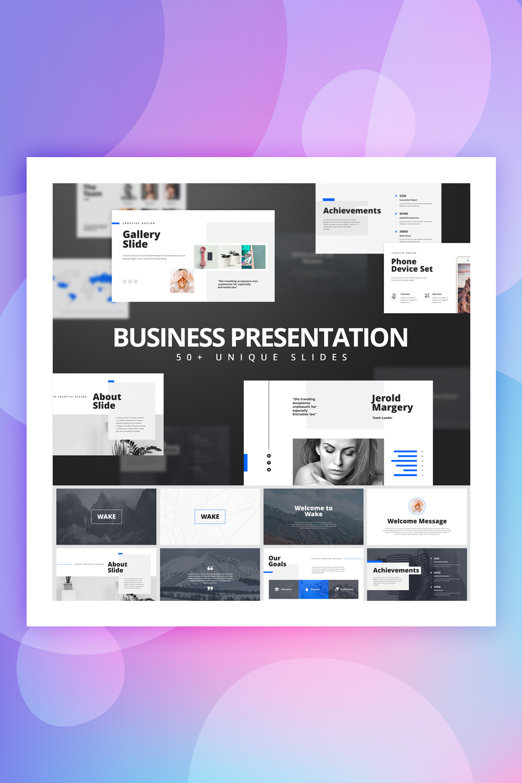 Wake - Modern & Stylist Presentation Keynote Template