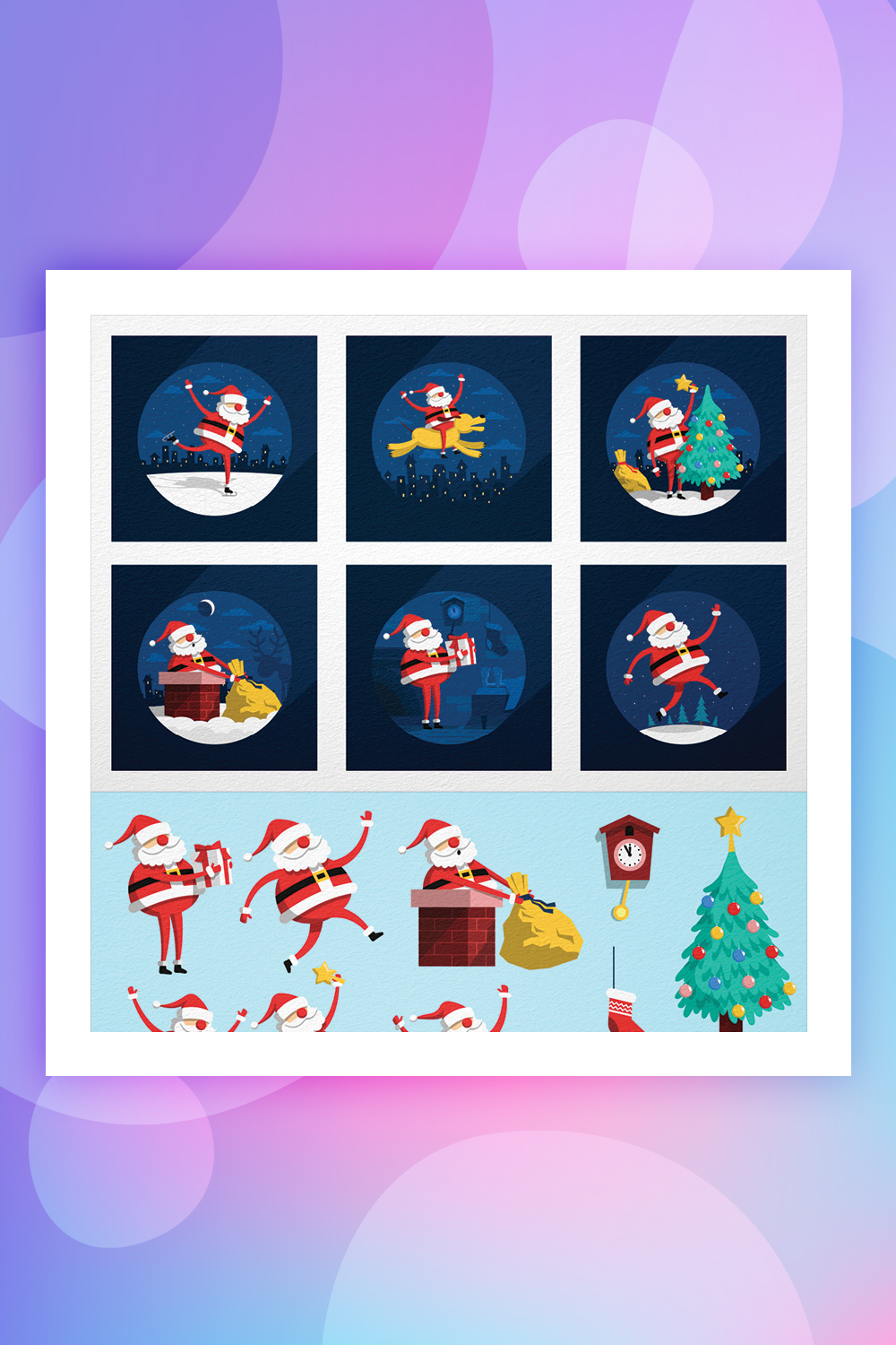 Santa Claus Situations Illustration