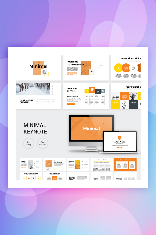 Orange - Minimal Presentation Keynote Template