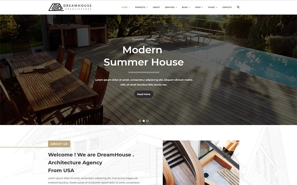 Dreamhouse - Architecture & Interior Design Helix Ultimate | Business Joomla Template