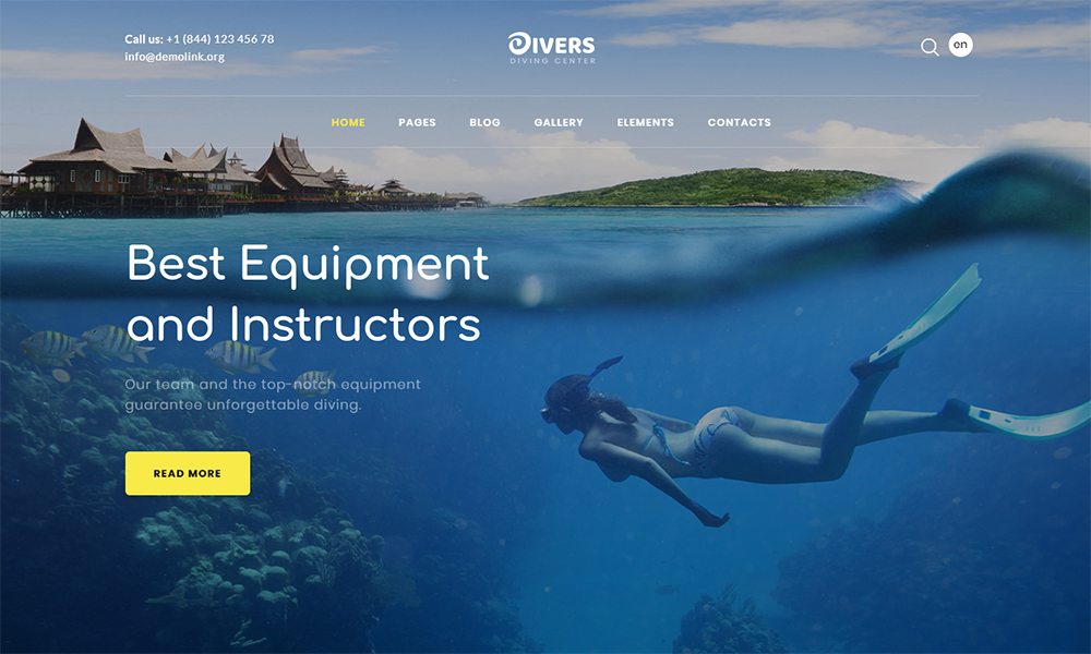 Divers Multipage HTML Template
