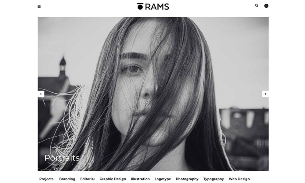 RAMS - Portfolio and Art Gallery WordPress Theme