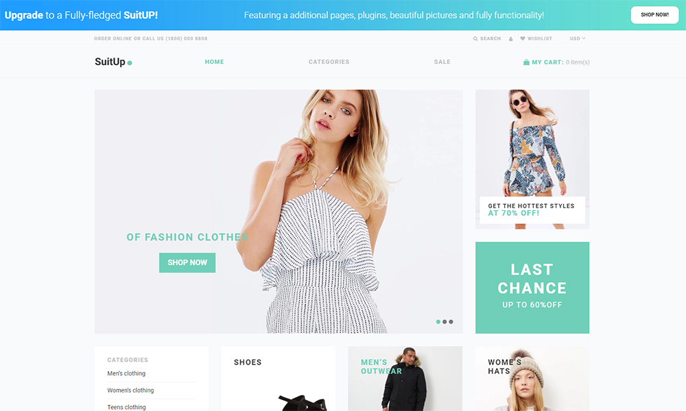 SuitUP - Fashion Store Free Elegant Shopify Theme