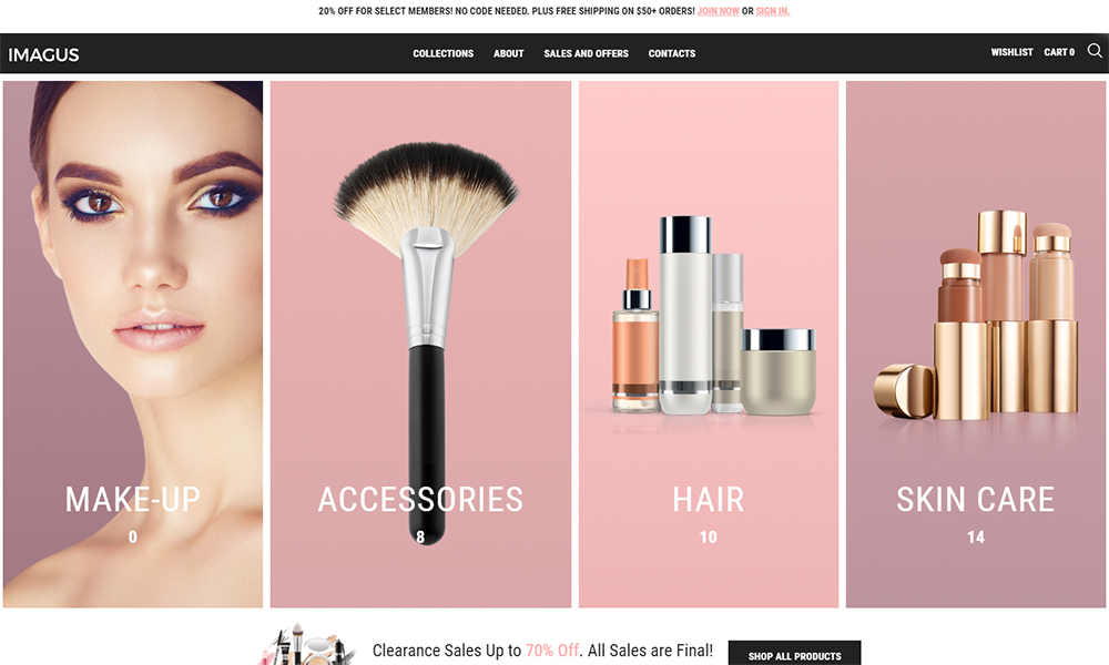 Imagus - Cosmetics Store ECommerce Modern Elementor WooCommerce Theme