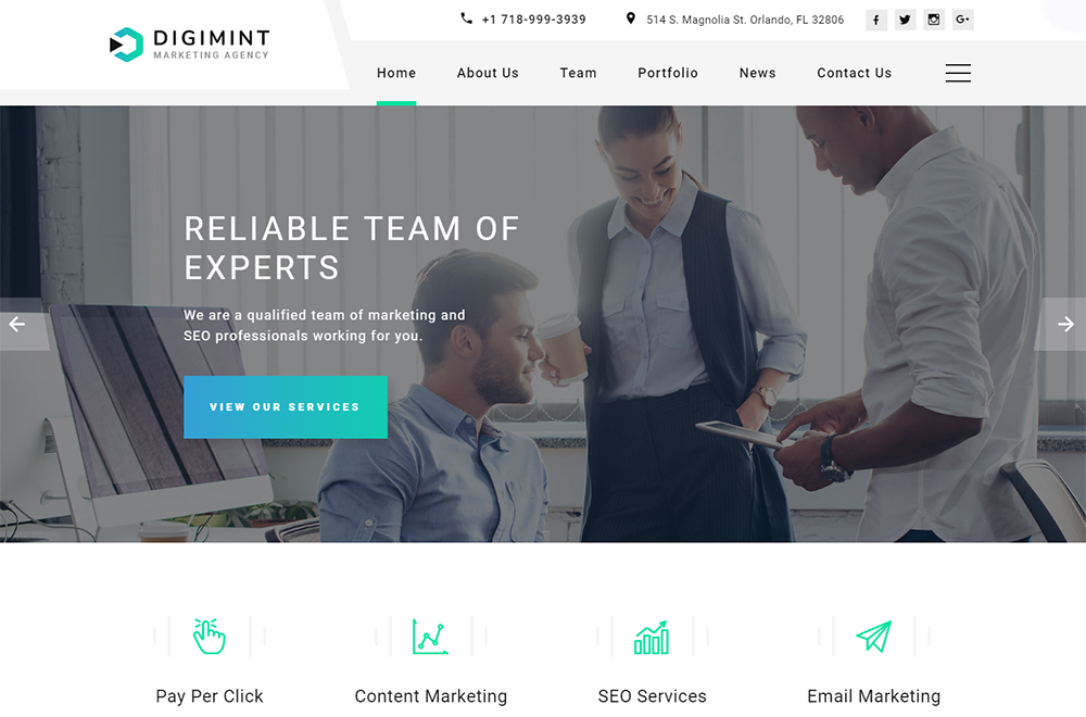 Digimint Landing Page HTML Template