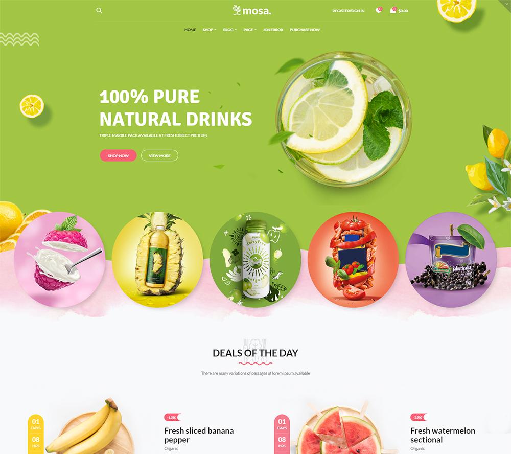 Mosa - Organic WooCommerce Theme
