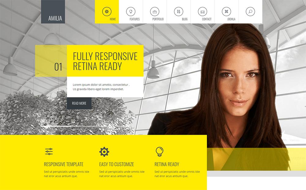 Amilia - Responsive Multi-Purpose Joomla Theme With Page Builder | Corporate Joomla Template