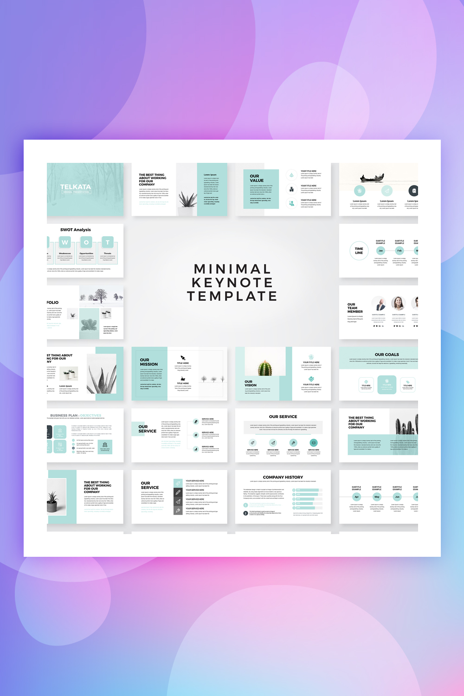 Telkata Minimal Clean Presentation Keynote Template