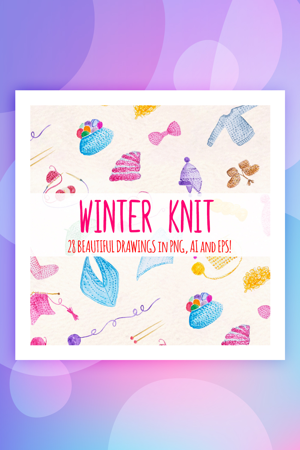 28 Winter Knitted Illustration