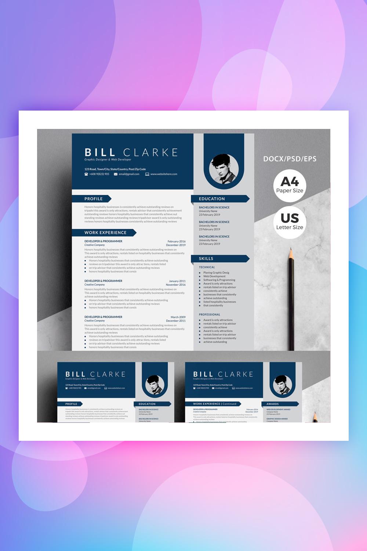 Word Resume-Bill Clarke Resume Template