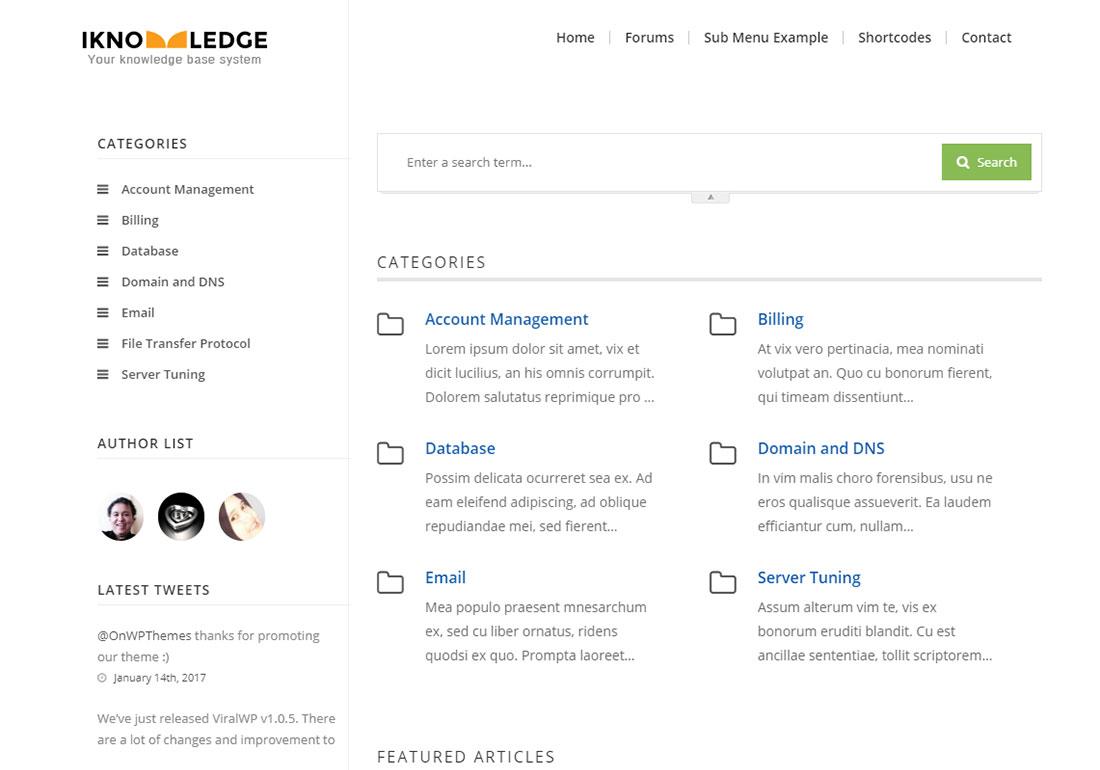 Techdesk WordPress wiki theme