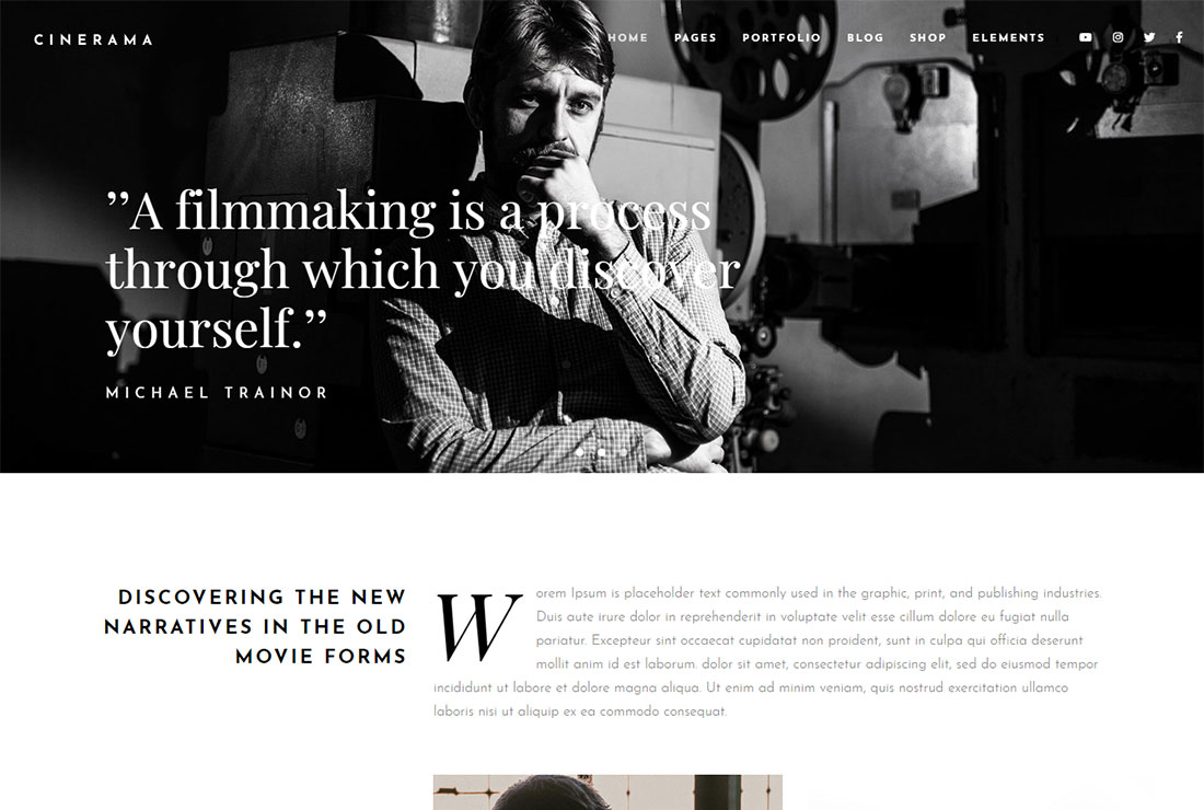 Cinerama Actor Website Template