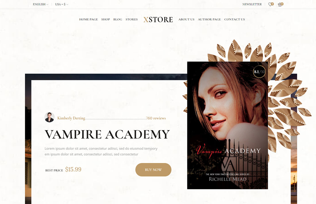 XStore - ecommerce theme for selling books