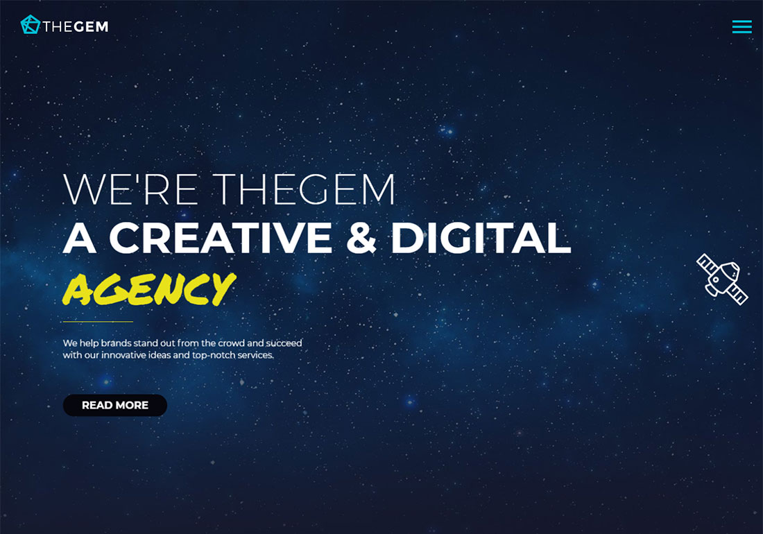 TheGem digital agency WordPress theme