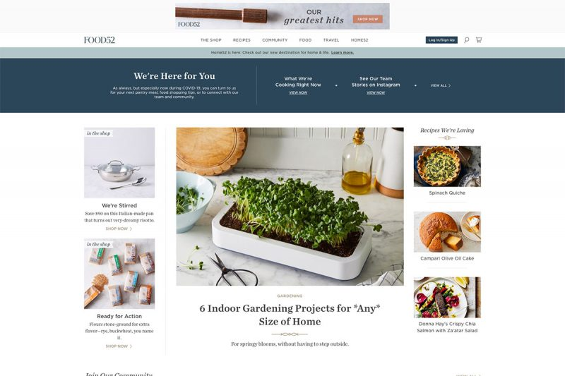 20 Excellent Food Blog Designs To Cherish For Inspiration 2020