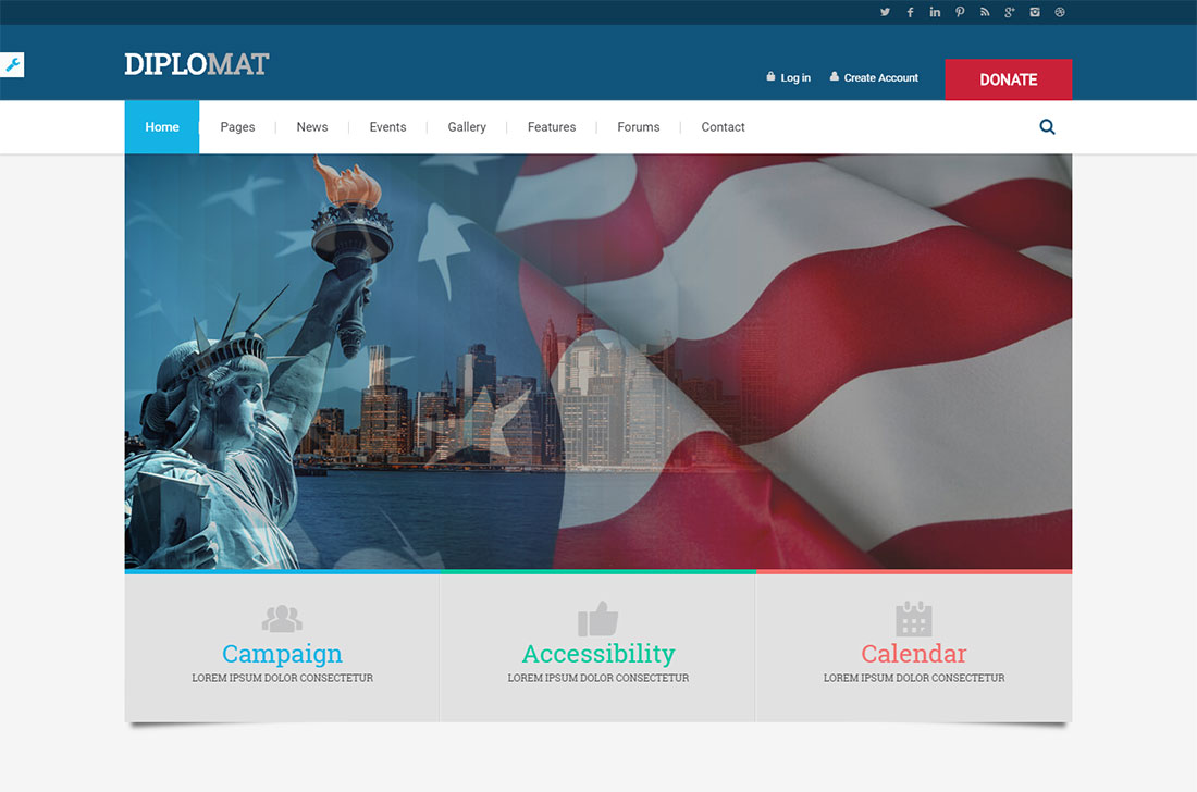 diplomat government WordPress theme