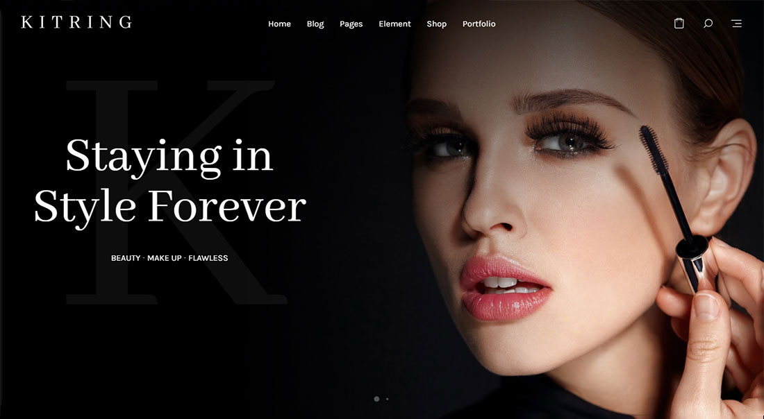 kitring makeup artist wordpress theme
