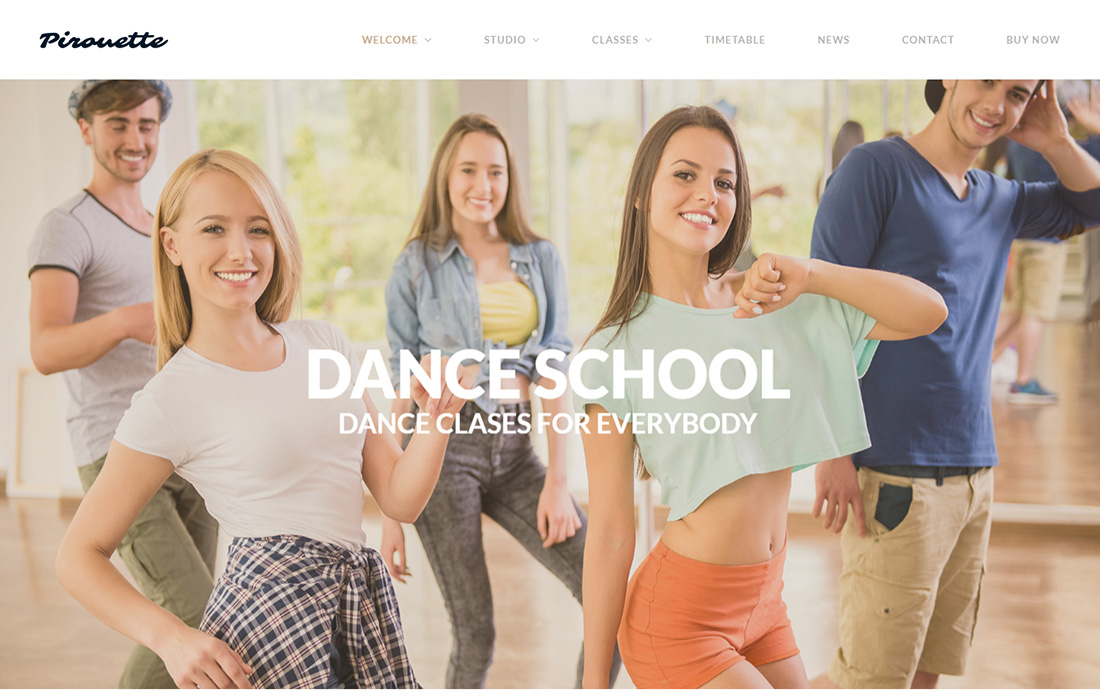 Dancing Academy Martial Arts WordPress Theme