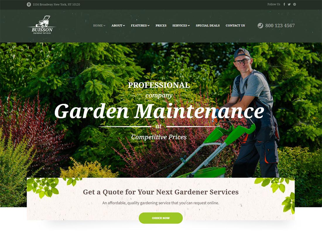 Buisson Pest Control WordPress Theme