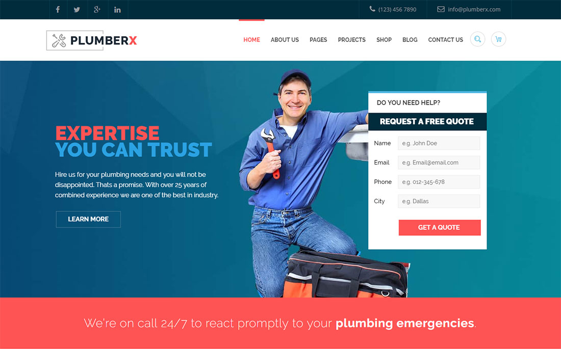 Plumber Plumber WordPress Theme